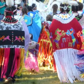 Visiting Ojibwe Family and Ancestors