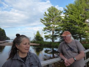 Lake Surperior With Ojibwe Family