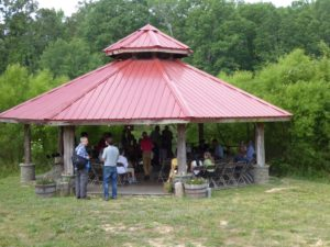 Gazebo, Pickards Mountain, Thomas Berry Conference 2019