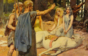 A painting of Wodan healing Balder's horse by Emil Doepler, 1905.