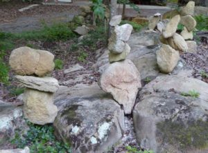 A Delicate Balance of stones in The Stone Garden