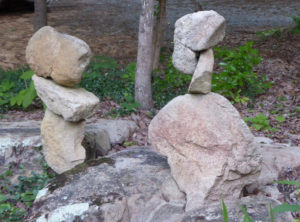 Stone Creatures in Delecate Balance in the Stone Garden