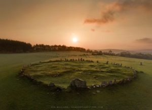 Bealtaine Sunrise at Beltany by Ken Williams