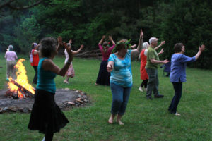 Dancing Around the Fire at Beltane