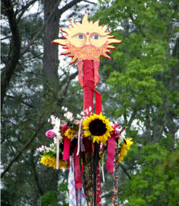 Sun and Flowers on Maypole