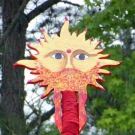 Beltane Maypole Sun