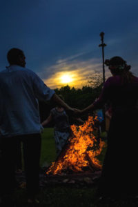 Night Fire Sunset Beltane