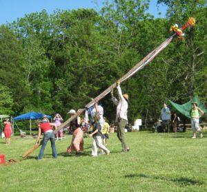RaisiRaisingng the Maypole at Beltane