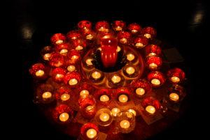 Candle at Earth Sanctuaries Imbolc Celebration