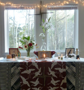 Brigid's Altar at Earth Sanctuaries Imbolc Celebration